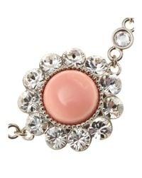 Miu Miu - Metallic Crystal Embellished Bracelet - Lyst