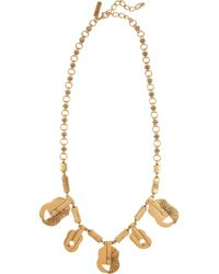 Oscar de la Renta | Metallic 24karat Goldplated Guitar Necklace | Lyst