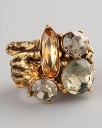 Oscar de la Renta - Multicolor Crystal Branch Ring - Lyst