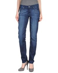 PAIGE - Blue Denim Pants - Lyst