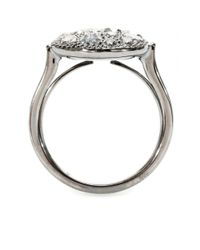 Roberto Marroni - Mora 18kt Oxidized White Gold Ring with Grey Diamonds - Lyst