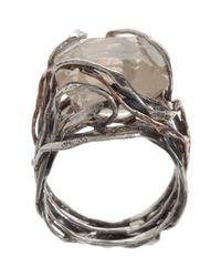 Sandra Dini - Metallic Quartz Ring - Lyst
