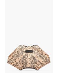 Alexander McQueen | Natural Warm Beige Dragonfly De Manta Clutch | Lyst