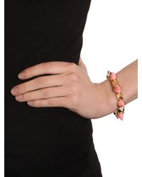 BaubleBar - Metallic Pink Spike Stud Bangle - Lyst