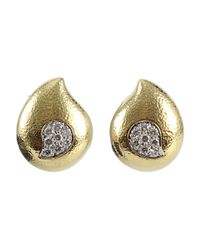 David Webb | Metallic Diamond Paisley Raindrop Earrings | Lyst
