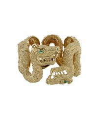 David Webb - Metallic Double Dragon Bracelet - Lyst
