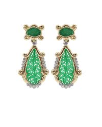 David Webb - Green Jade and Diamond Earrings - Lyst