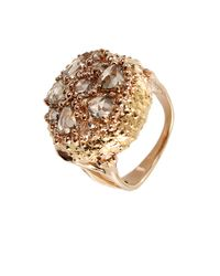Federica Rettore | Metallic Rose Cut Cognac Diamond Ring for Men | Lyst