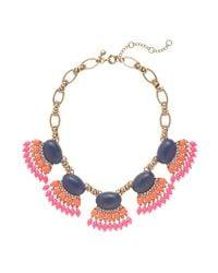J.Crew | Pink Fan Fringe Necklace | Lyst