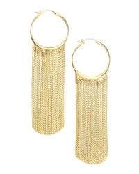 Michael Kors - Metallic Hoop Fringe Earrings - Lyst