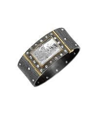 Moritz Glik | Black Wide Diamond and Sapphire Box Cuff | Lyst
