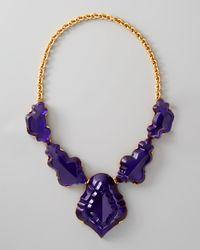 Oscar de la Renta | Purple Resin Chandelier Necklace | Lyst