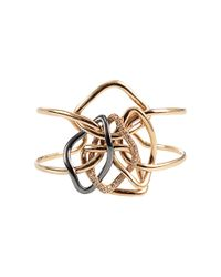 Antonini | Metallic Diamond Cuff Bracelet | Lyst