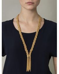 Aurelie Bidermann - Metallic Miki Dora Plaited Rope Necklace - Lyst