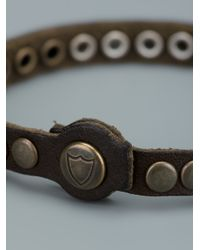 HTC Hollywood Trading Company - Brown Studded Bracelet - Lyst