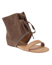 See By Chloé | Brown Cinch Ankle Flat Sandal | Lyst
