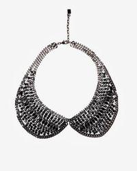 DANNIJO - Black Peter Pan Collar Necklace - Lyst