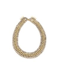 Fallon - Metallic Roswell V Collar - Lyst