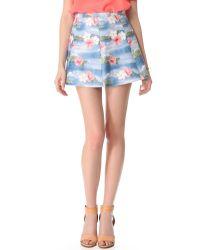 Love Leather   Blue Hawaiian Punch A Line Mini Skirt   Lyst