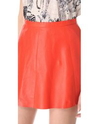 Love Leather - Red Starburst A Line Mini Skirt - Lyst