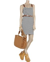 MICHAEL Michael Kors | Blue Striped Stretch-jersey Dress | Lyst