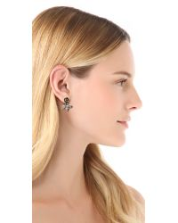 Pamela Love | Metallic Rose Earrings | Lyst