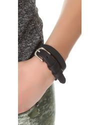 Rag & Bone | Black Moto Wrap Bracelet | Lyst