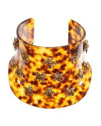 Alexander McQueen | Metallic Tortoiseshell Bee Plexiglas Choker | Lyst