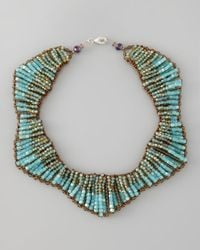 Panacea | Blue Beaded Statement Necklace | Lyst