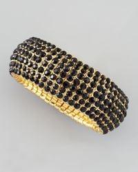 Panacea - Black Beaded Stretch Bracelet - Lyst