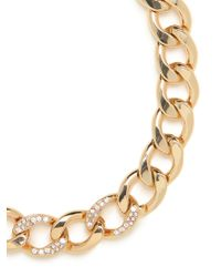 BaubleBar - Metallic Gold Ice Chain Collar - Lyst