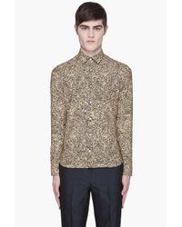 KENZO - Yellow Topographic Slim Shirt for Men - Lyst