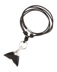 Tateossian | Black Onyx Whale Tail Necklace for Men | Lyst