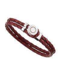 Tateossian - Brown Buttonloop Leather Bracelet for Men - Lyst