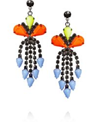 Tom Binns | Multicolor Electro Clash Nova Painted Swarovski Crystal Earrings | Lyst