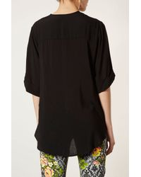 TOPSHOP | Black Pleat Back Top By Boutique | Lyst