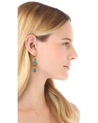 Ben-Amun - Green Turquoise Drop Earrings - Lyst