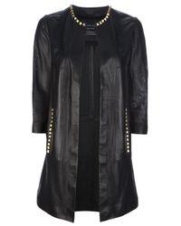 Philipp Plein - Black Stud Detail Jacket - Lyst