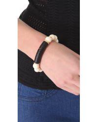 Elizabeth and James - Natural Shaman Beaded Bracelet with Topaz Pave Rondelles - Lyst