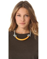 Orly Genger By Jaclyn Mayer - Gray Necco Necklace - Lyst