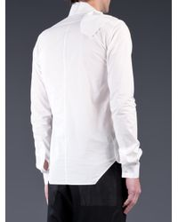 Rick Owens - White Wrapped Shirt for Men - Lyst