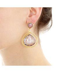Coralia Leets - Blue Mystic Quartz Frame Earrings - Lyst