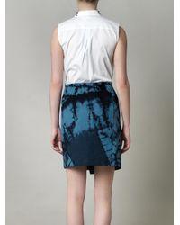 Boy by Band of Outsiders - Blue Tie Dye Wrap Skirt - Lyst