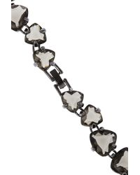 Noir Jewelry - Gray Gunmetal Plated Crystal Necklace - Lyst