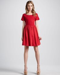 French Connection - Red Samba Aline Dress - Lyst