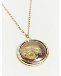 Munoz Vrandecic - Metallic Camafeo Necklace - Lyst