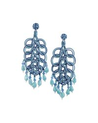 Anna E Alex | Blue Earrings | Lyst