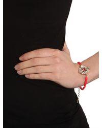 BaubleBar | Purple Fuchsia Ice Clover Bracelet | Lyst