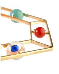 Delfina Delettrez - Metallic Gold-Plated Stone Bracelet - Lyst