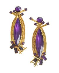 Erickson Beamon - Purple Earrings - Lyst
